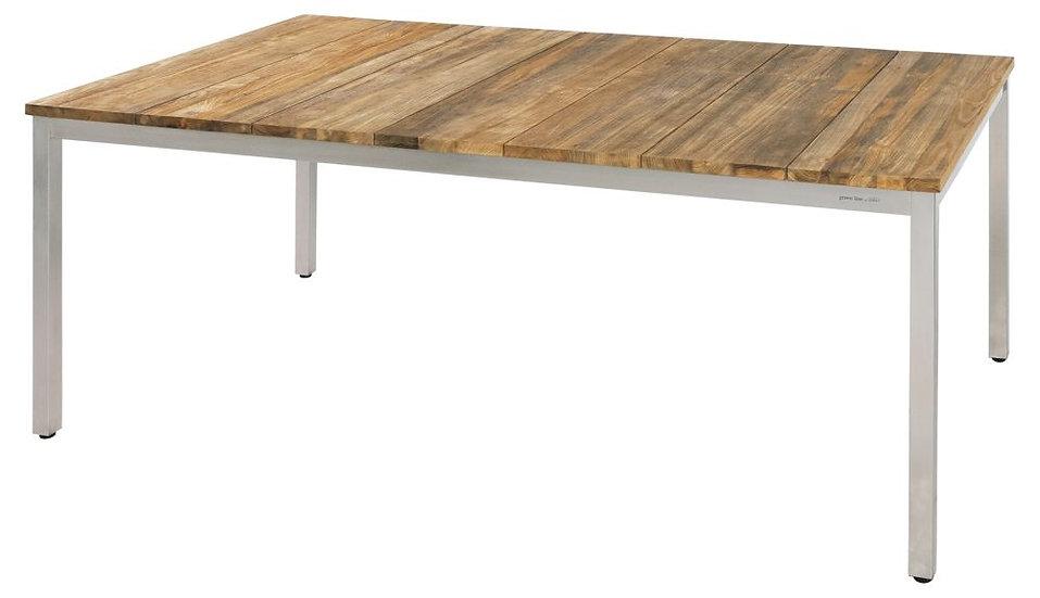 Zebra  NAXOS  Edelstahl-Recy-Teak  Tisch  180x100cm