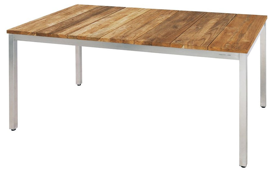 Zebra  NAXOS  Edelstahl-Recy-Teak  Tisch  160x90cm