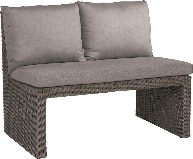 Stern  NOEL  Bank 2-Sitzer Geflecht basaltgrau mit