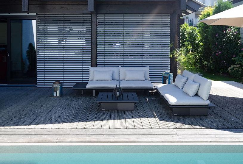 Jati & Kebon  ARBON  Lounge L-Form  eisengrau