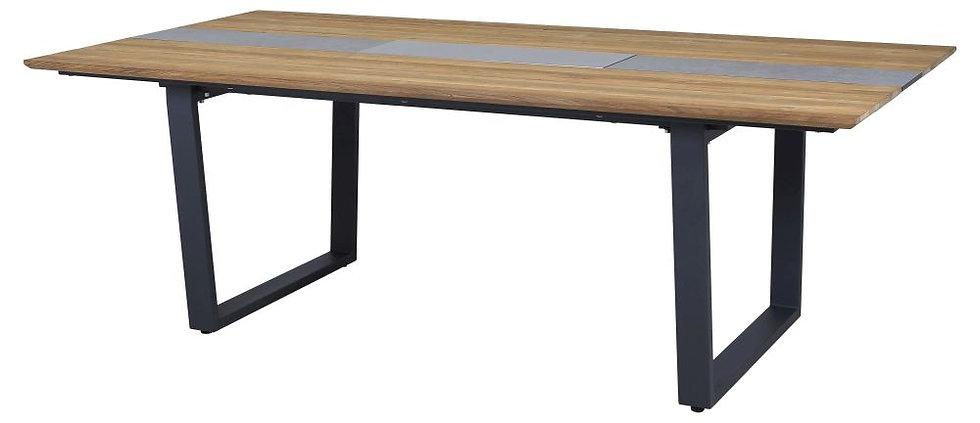 Zebra  PHÖNIX  Alu-Teak-HPL  Tisch 220x110 H75  Kufen-UG