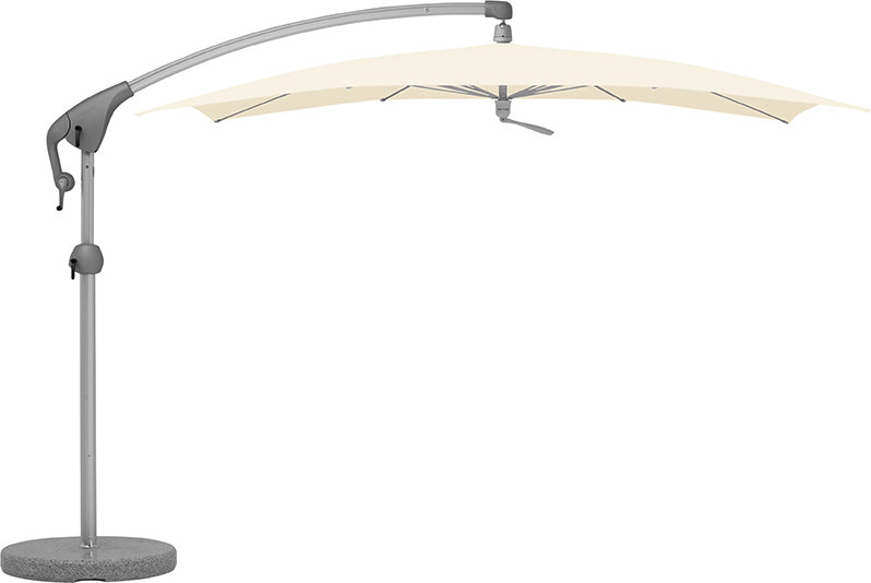 Glatz  PENDALEX P+  Ampelschirm  285x230cm  weiß