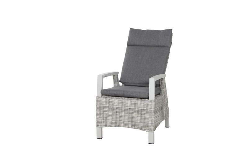 PUNO  Alu+Flecht Dining Sessel HL verstellbar  ice grey