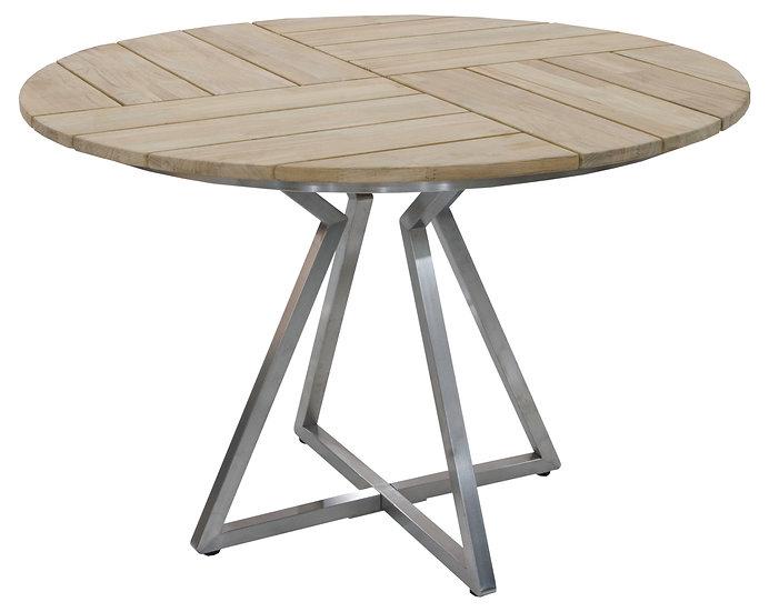 Zebra  TRIANGEL  Edelst Teak Tisch rund 110cm H75