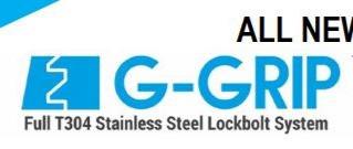 NEW stainless Accufast G-grip lockbolt system.