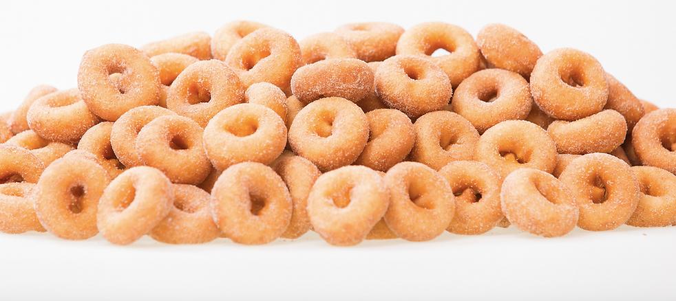 Hot, fresh bite-sized donuts