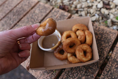 Mini donuts with salted caramel.jpg