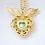 Thumbnail: Llamador de Ángeles Corazón de Arcángel dorado