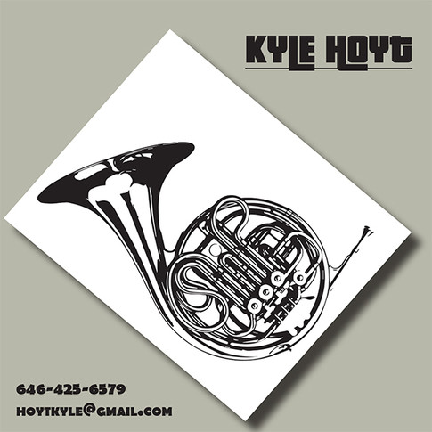 Contact Card for French Horn player, Kyle Hoyt