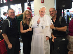 With Carol, Matt and the Pope