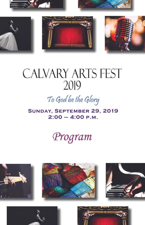 Calvary Arts Fest program