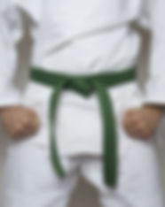 standing fighter green belt centered mar