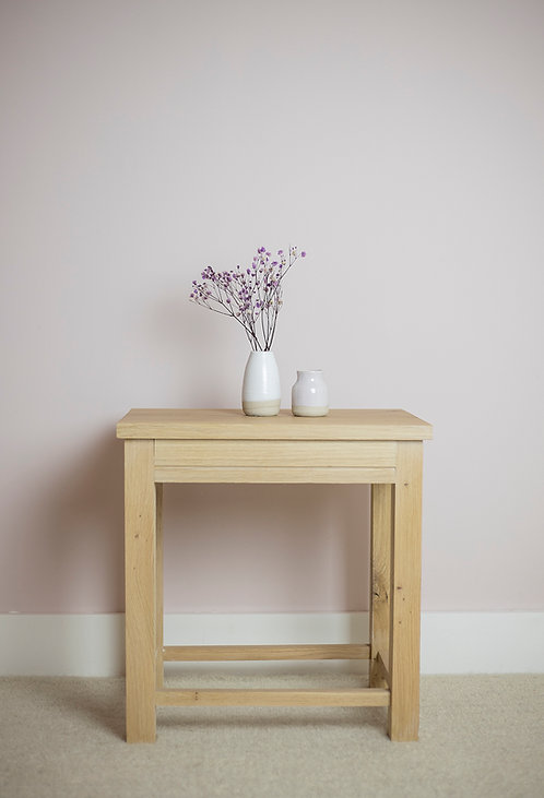 Oak Side Table with V-groove