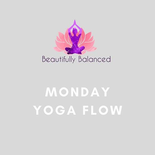 Monday Yoga Flow 10:15-11am ONLINE