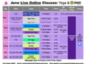 June 2020 Yoga & Zumba Schedule Yoga Nid