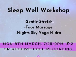 Sleep Well Workshop: Yoga | Face Massage | Yoga Nidra