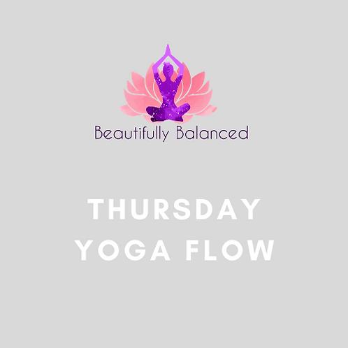 Thursday Yoga Flow 9:15-10am ONLINE