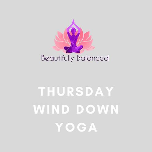 Thursday Wind Down Yoga 7:50-8:35pm ONLINE
