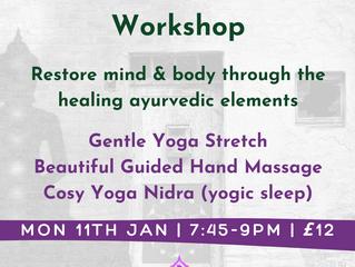 Relax & Restore Workshop: Yoga | Hand Massage | Yoga Nidra