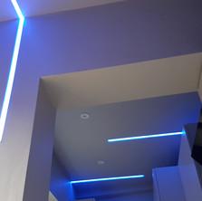plaster in profiles LED