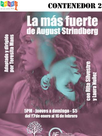 CONTENEDOR 2:  LA MÁS FUERTE de August Strindberg