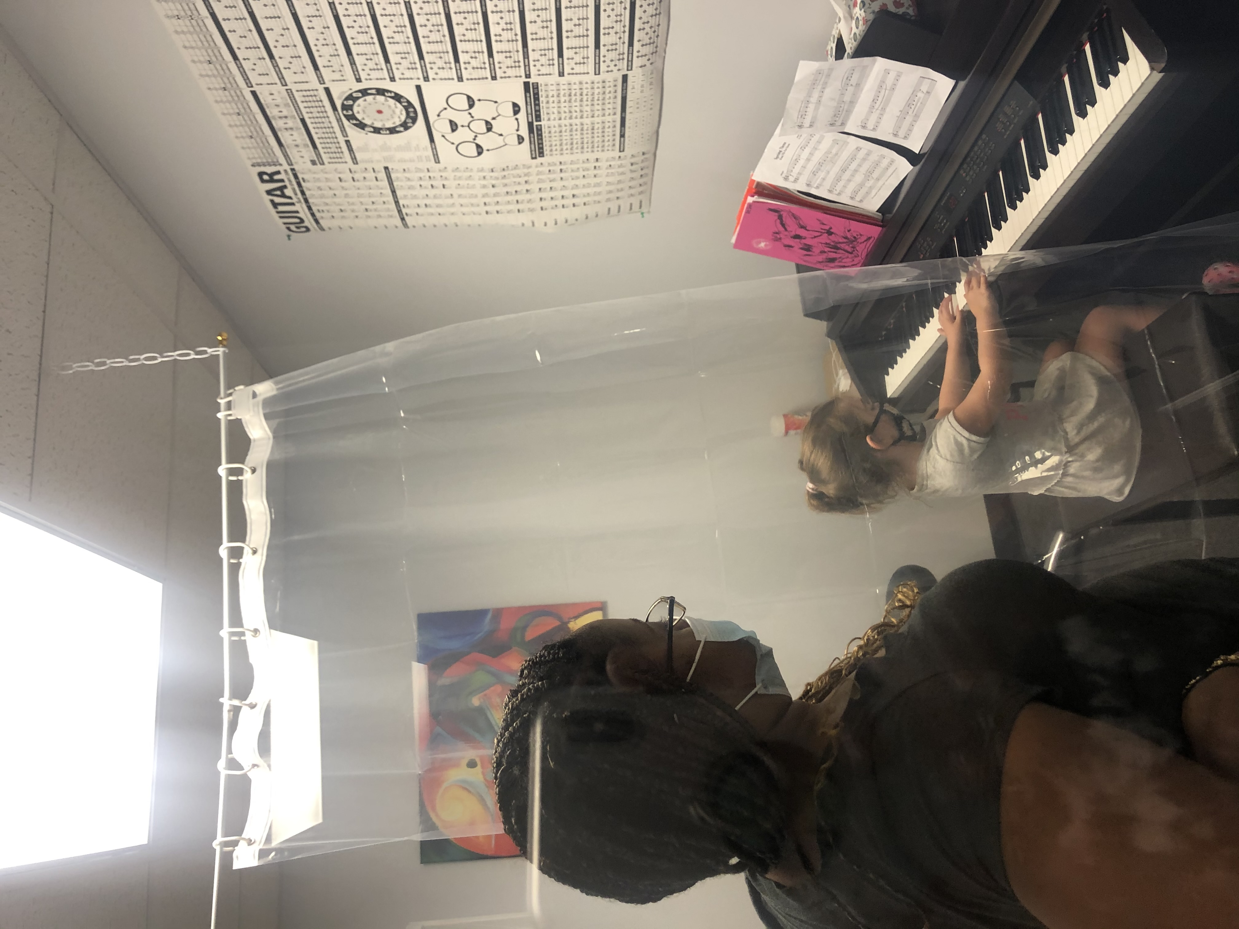 Piano Lessons with Breana and student Zoe