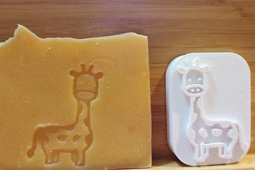 Sello para jabón jirafa