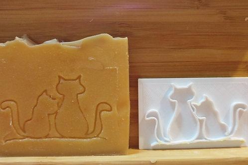 Sello para jabón gatos
