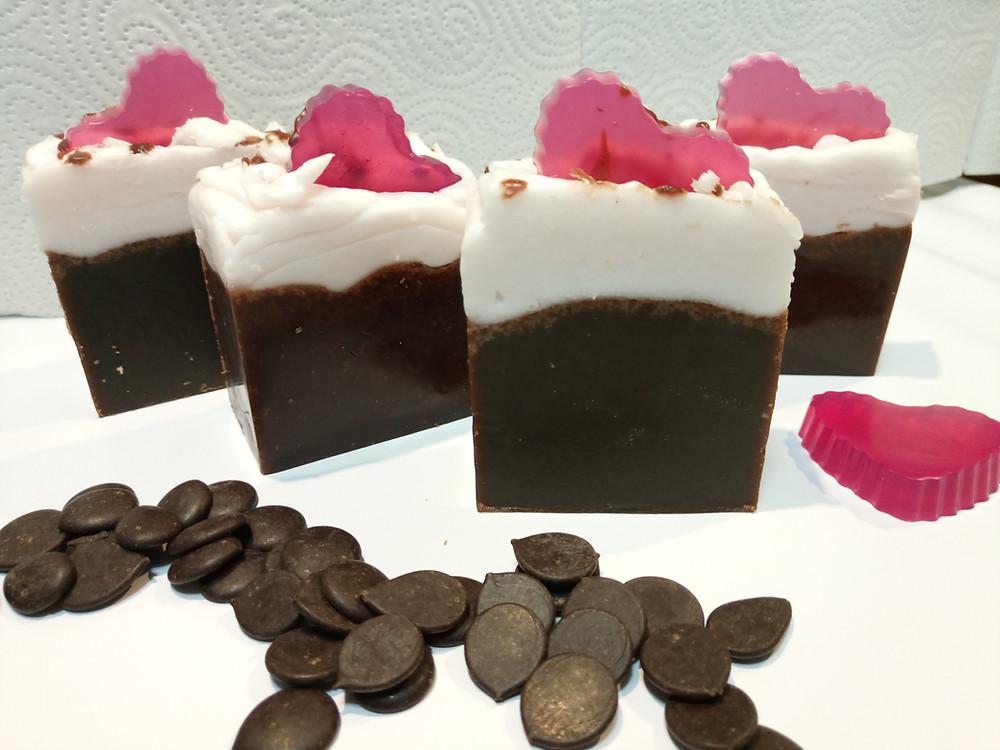 Jabón de chocolate terapéutico