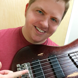 Bass player, Johnny Hayes performs with Future Sonics