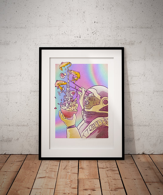 Space Ramen A3 Print