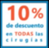 10% de descuento en cirugias