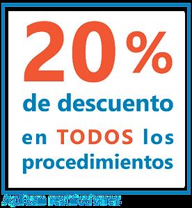 20% de descuentos en láser