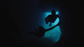 Free divers on the cave-Italy.mov