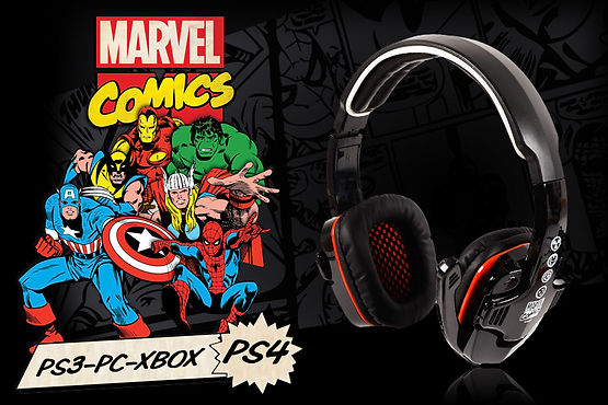 Auriculares Gaming XBOX PC PS4 PS3 Indeca Marvel