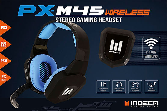 Auriculares Gaming PS3 PS4 PC Indeca PX-76