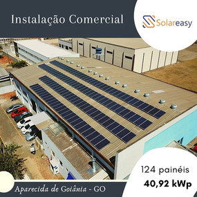 Energia Solar Comercial em Aparecida de Goiânia