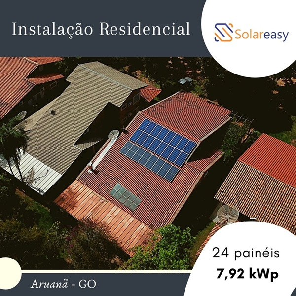 Energia Solar Residencial em Aruanã