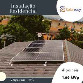 Energia Solar Residencial em Vespasiano