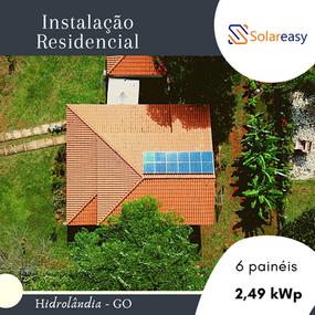Energia Solar Residencial em Hidrolândia