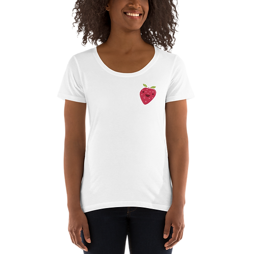 Ladies' Scoopneck T-Shirt - Strawberry