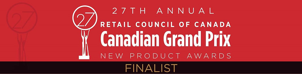Finalist Logo for 27th Annual Retail Council of Canada Canadian Grand Prix New Product Awards