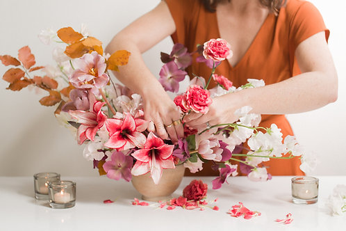 Weekly or bi weekly flower subscription for one month  $200.00