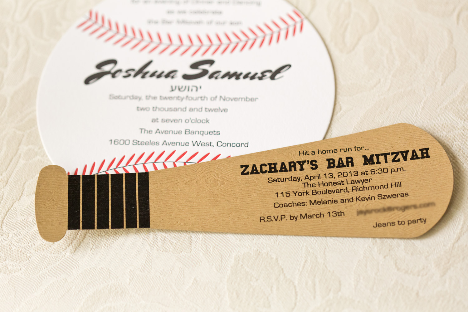 Baseball themed invitation