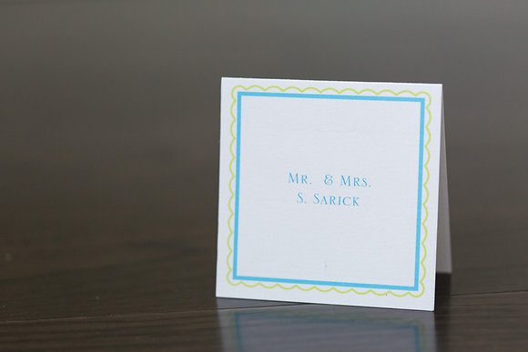 Boxed Square place card