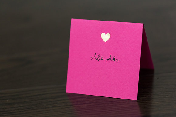 Hot pink place card