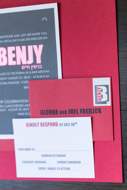 Red and grey invitation