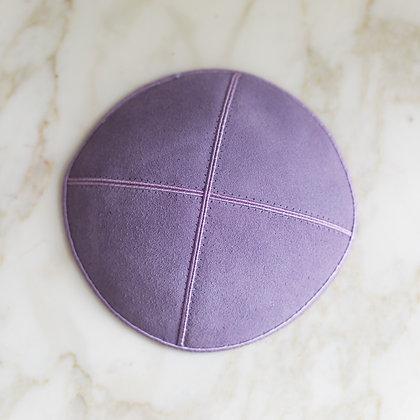 Light Purple Suede Kippa (per dozen)