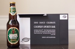 Sports bar themed invitation