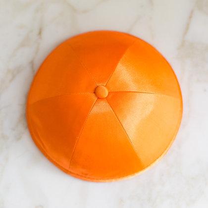 Orange Satin Kippa (per dozen)